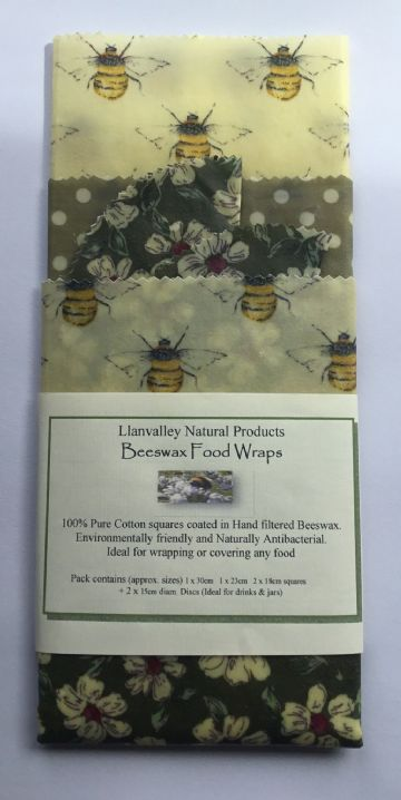 Beeswax Food Wraps Squares Design 1